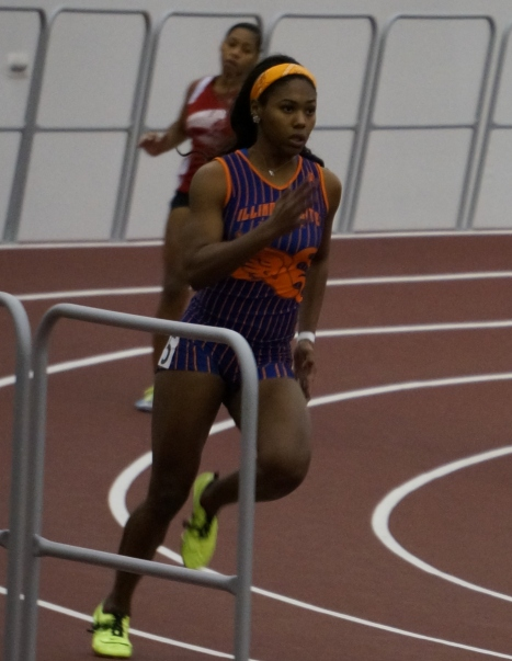 Aailyah Brown on her way to the win in the 200 Meter Dash at the Texas A&M Classic on Saturday. Photo Credit: Dwayne Pierre-Antoine